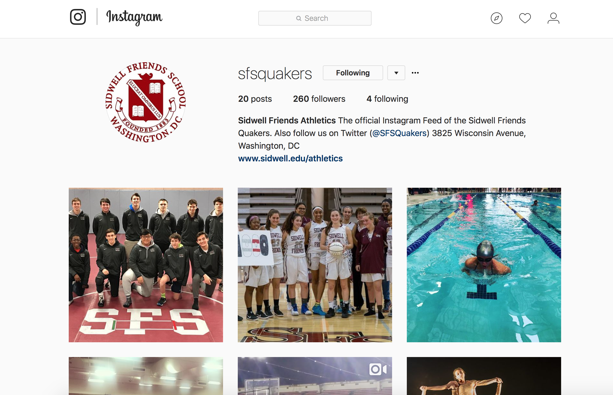 Sidwell Friends Athletics enters Social Media Platforms