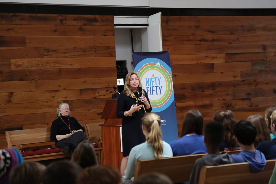 NASA Scientist Ellen Stofan Gives Out-of-This-World Talk at Assembly